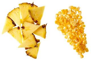 gambar nanas dan jamur