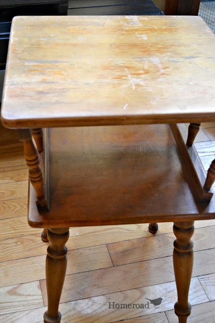 navy blue maple side table homeroad. Black Bedroom Furniture Sets. Home Design Ideas