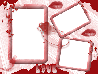 Molduras românticas para fotos