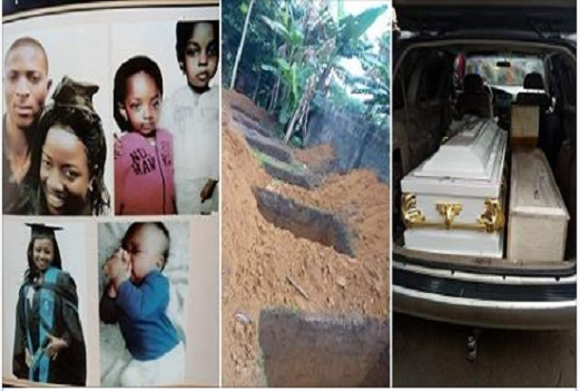 Tears Flow Like River as The Family killed by generator fumes in rivers state were laid to rest. (Heartbreaking Photos)