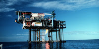 An oil and gas drilling platform in Australian waters: But what it produces may not be needed. (Image Credit: CSIRO, via Wikimedia Commons) Click to Enlarge.