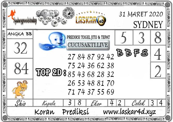 Prediksi Togel SYDNEY LASKAR4D 31 MARET 2020