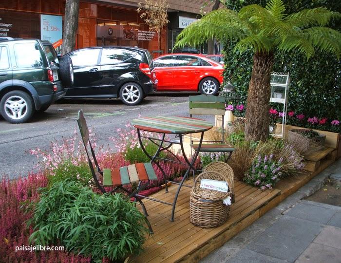 Coche o jard n parkingday en madrid paisaje libre for Viveros salamanca