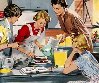 Image result for 1950 cartoon mom baking