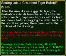 naruto castle defense 6.0 Sealing Technique: Tiger Vision Staring Bullet detail