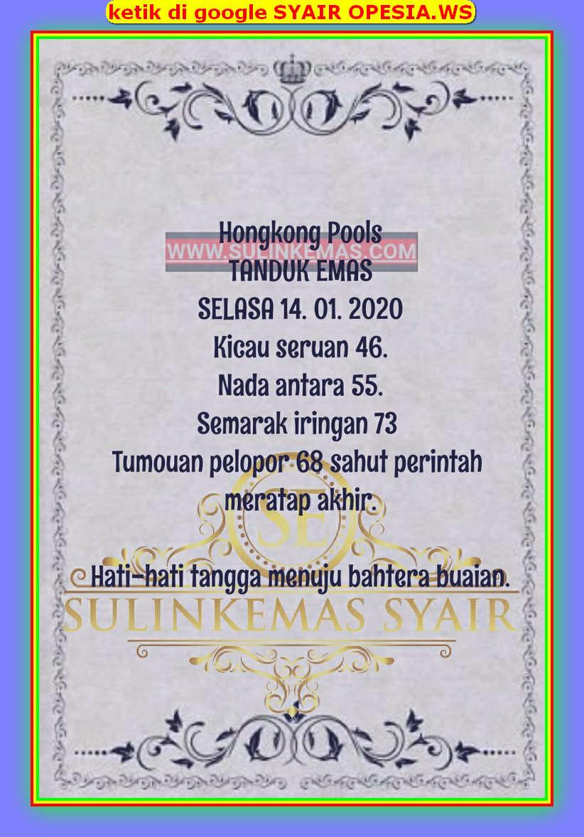 Kode syair Hongkong Selasa 14 Januari 2020 32