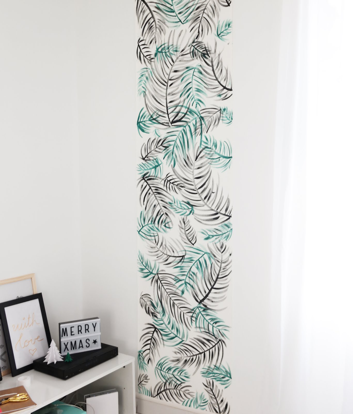 diy deco murale tropicale shylylovely. Black Bedroom Furniture Sets. Home Design Ideas