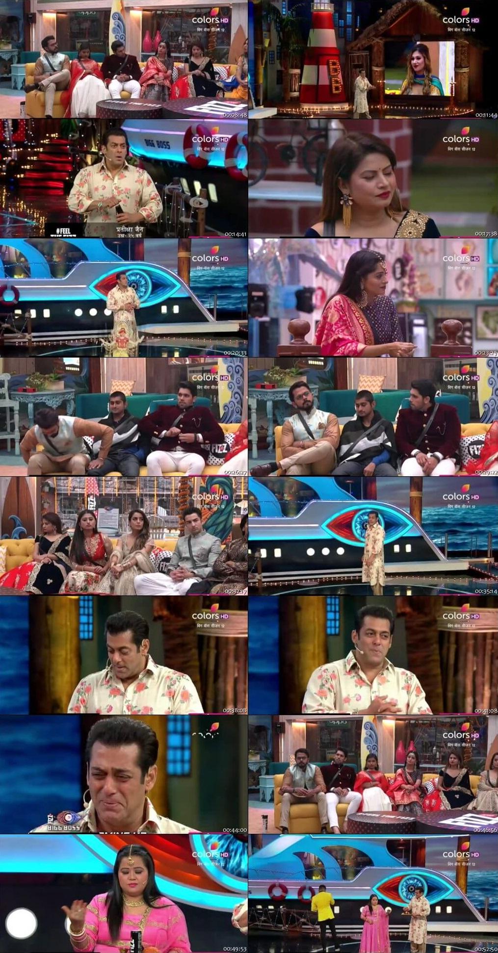 Screenshots Of Hindi Show Bigg Boss 12 3rd November 2018 Episode 48 300MB 480P HD