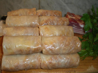 Cabbage rolls with meat from our kitchen