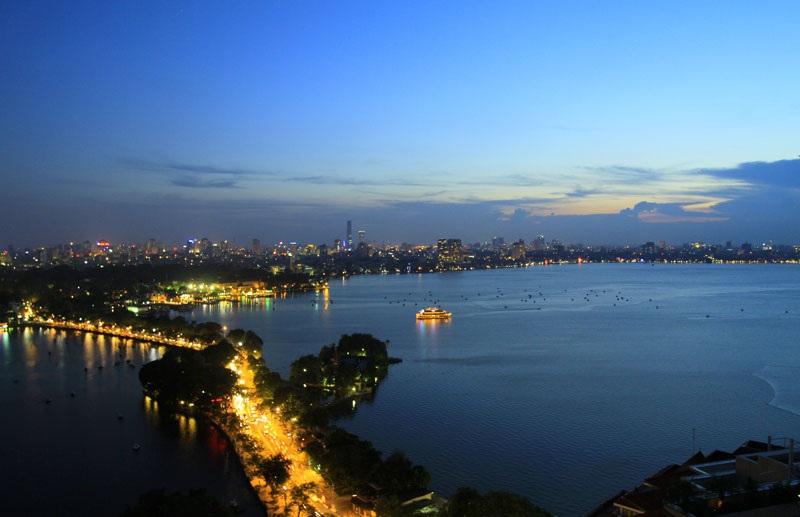 View hồ tây từ chung cư Sun Group Quảng An.
