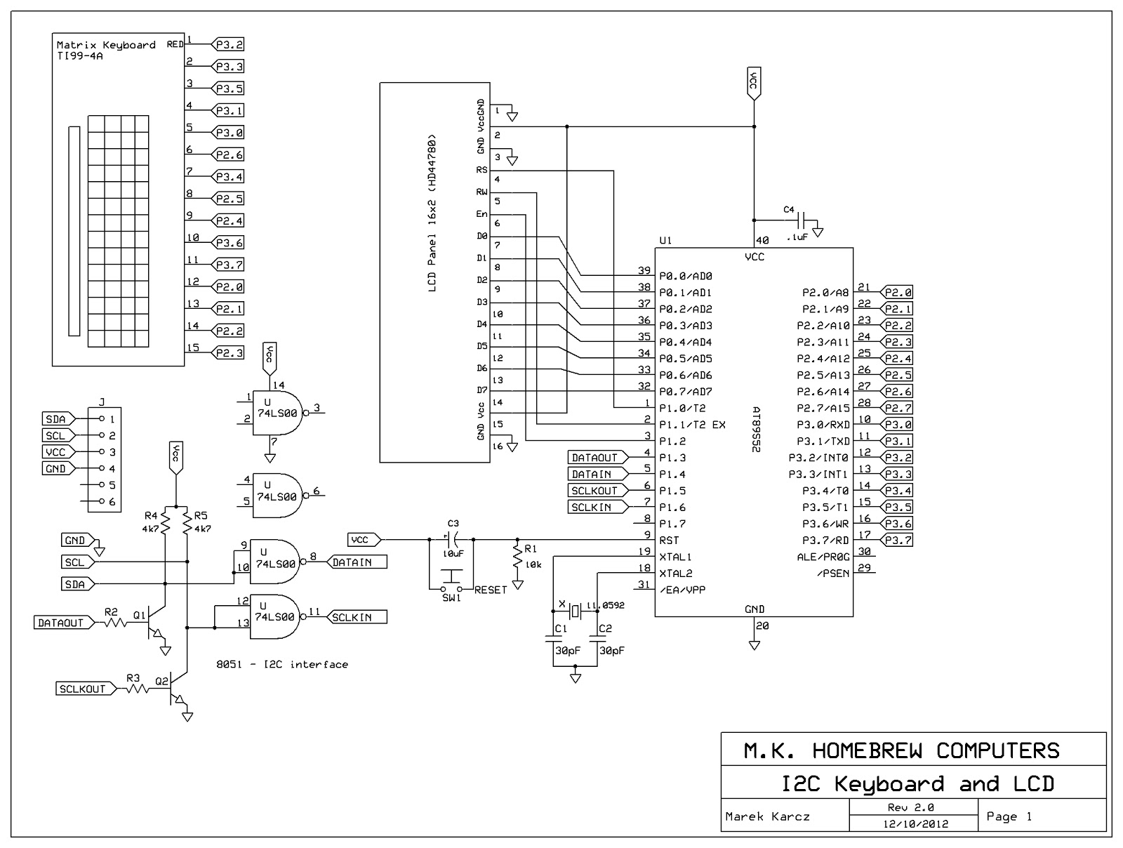 wiringpi i2c lcd code
