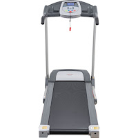 "Sunny Health & Fitness SF-T7603 Electric Treadmill, with 2.2 hp peak dc motor, 0.5-9 mph, 16""x49"" running belt, manual incline, 9 programs"