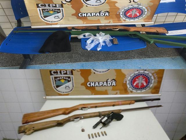 Polícia prende suspeitos de homicídio e apreende armas na Chapada