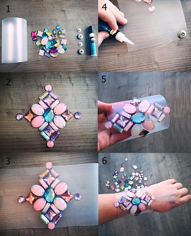 DIY bracelet how to make a rhinestone bracelet
