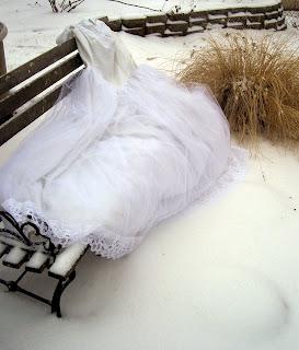 vestido de novia en la nieve
