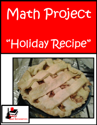Free holiday recipe math project that covers elapsed time, rounding, budgeting and adding - free download from Raki's Rad Resources.