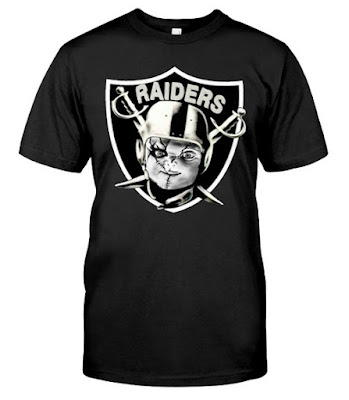 chucky's back raiders shirt, chucky's back raiders