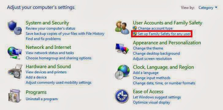 Melindungi Keluarga dengan Family Safety Windows 8