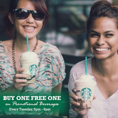 Malaysia Starbucks Frappuccino Buy 1 Free 1 Tuesday Promo
