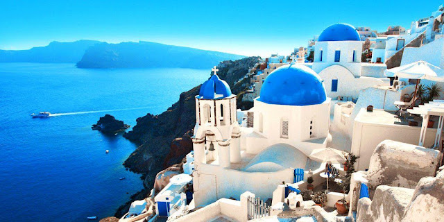 Santorini, Kota Dewa di Yunani
