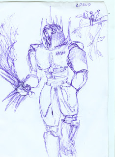 Medium armor fighter drawing