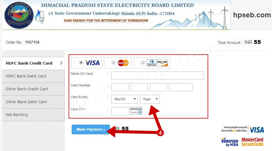 How to pay electricity bill online in himachal pradesh (India)