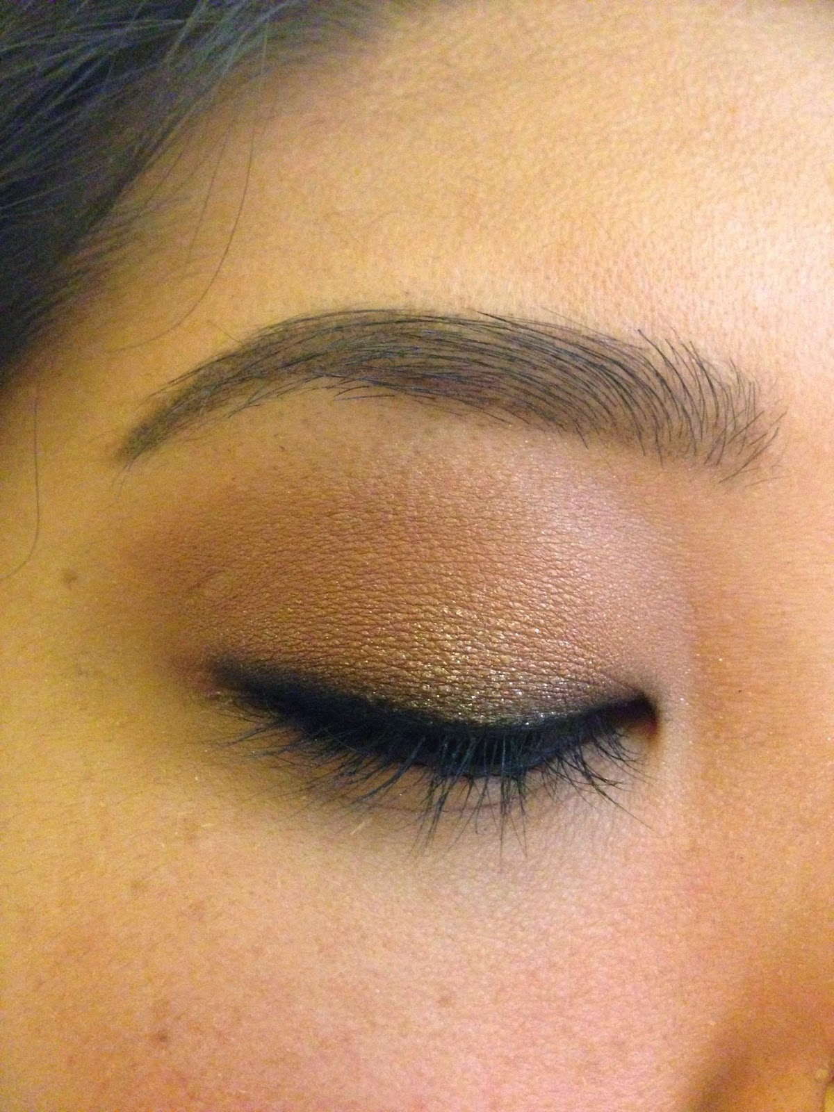 847e08b902f On your bottom lash line, smoke out the shimmery brown shadow from inner to  outer corner. I used the same NARS