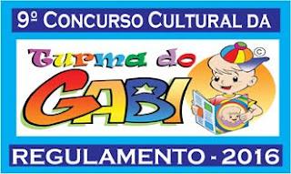 9º CONCURSO CULTURAL DA TURMA DO GABI - DESENHO - 2016