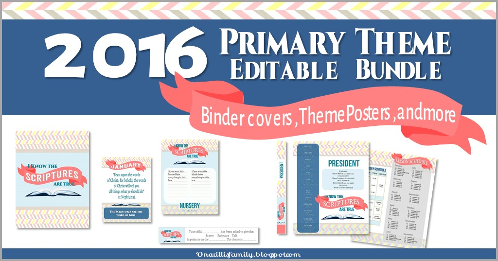Life's Journey To Perfection: 2016 Primary Theme Printables