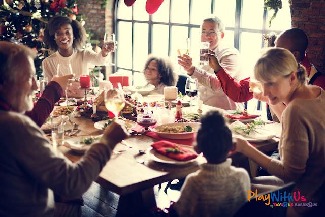 fête de fin d'année famille