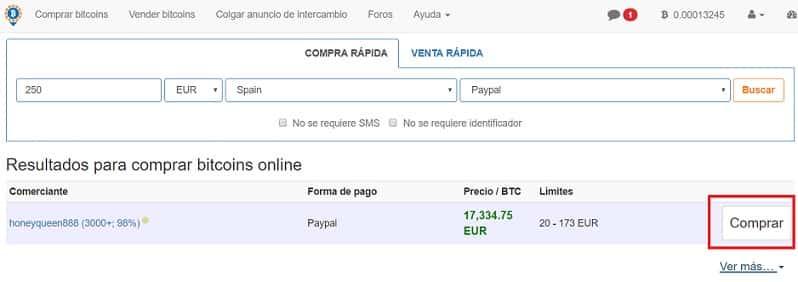 comprar bitcoin en localbitcoins buscar vendedor paypal españa