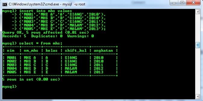 yaitu perintah SQL yang berfungsi untuk melaksanakan kekerabatan antara kedua tabel atau lebih y Penggunaan Perintah JOIN Pada MySQL