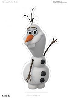 Centros de Mesa de Frozen para Imprimir Gratis.