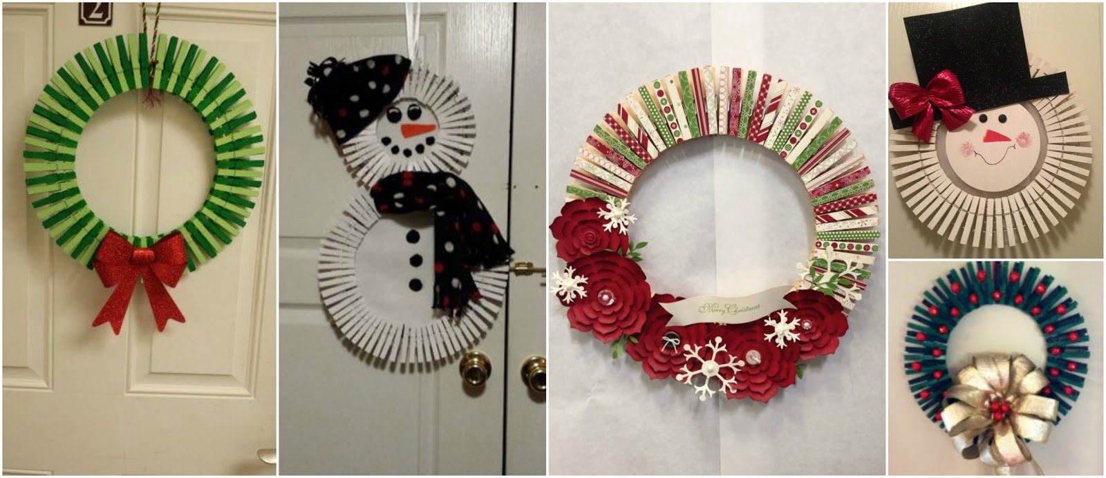 Aprende c mo hacer 8 adornos navide os con pinzas de ropa - Como realizar adornos navidenos ...