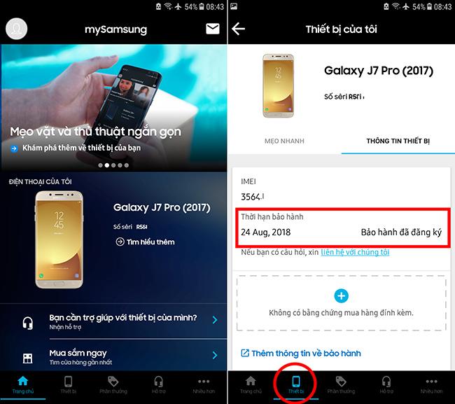 Cách tra cứu thông tin bảo hành điện tử các sản phẩm của Samsung