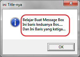 Pada kesempatan kali ini kita akan melanjutkan mencar ilmu perihal Macro  Cara Membuat Message Box di VBA Excel