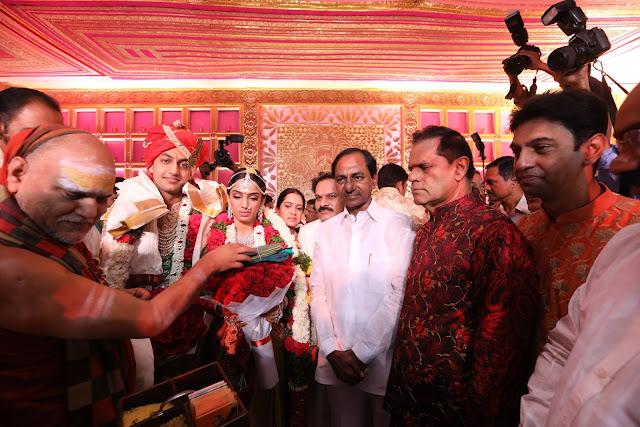 CM KCR at subbarami reddy grandson wedding