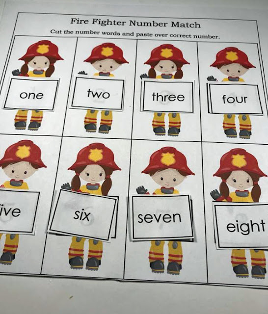Kindergarten cut and paste worksheet for kids
