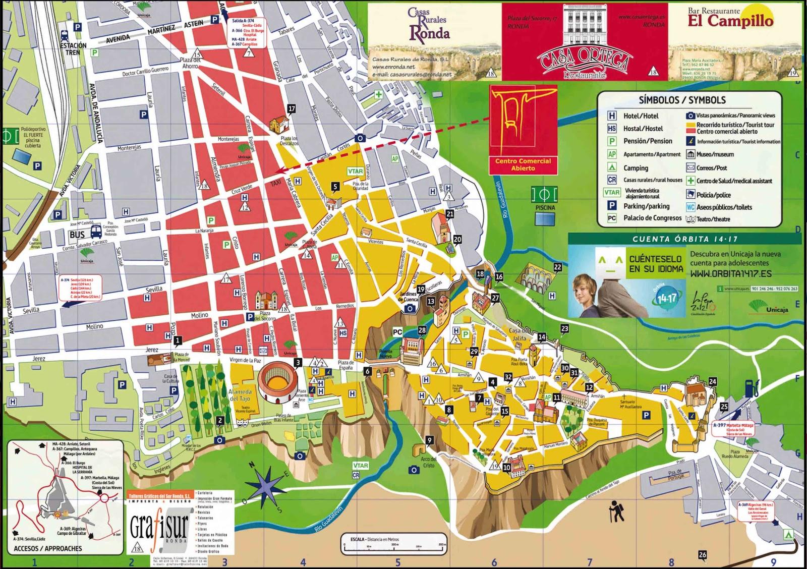 Mapa Turistico De Malaga.Ruta 76 Mapa De Ronda Malaga