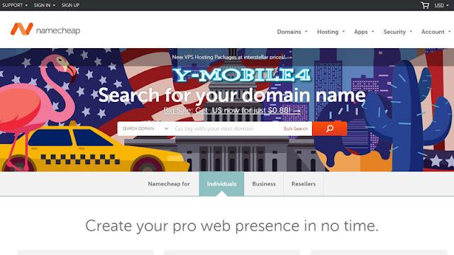 YMobile4.com - Domain NameCheap