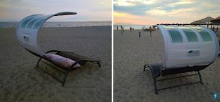 Η πρώτη ξαπλώστρα με φωτοβολταϊκά φτιάχτηκε στη Θεσσαλονίκη
