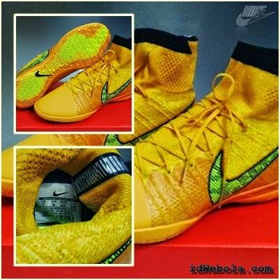 Sepatu Futsal Nike Elastico Superfly Yellow Orange