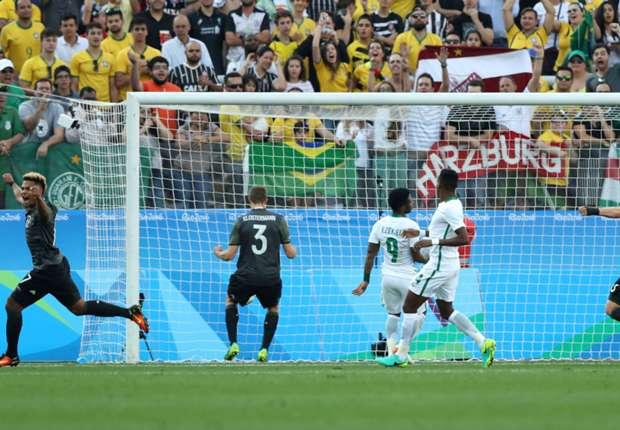 Lukas Klostermann scores against Nigeria U23 - Germany U23