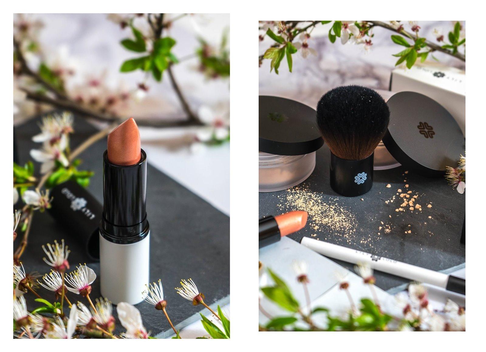 4a jak nakładać kosmetyki mineralne lily lolo opinia recenzja jak stosować puder matujący pędzel super kabuki cena blog szminka naturalne kosmetyki dla wegan puder mineralny podkład kredka do oczu szminka