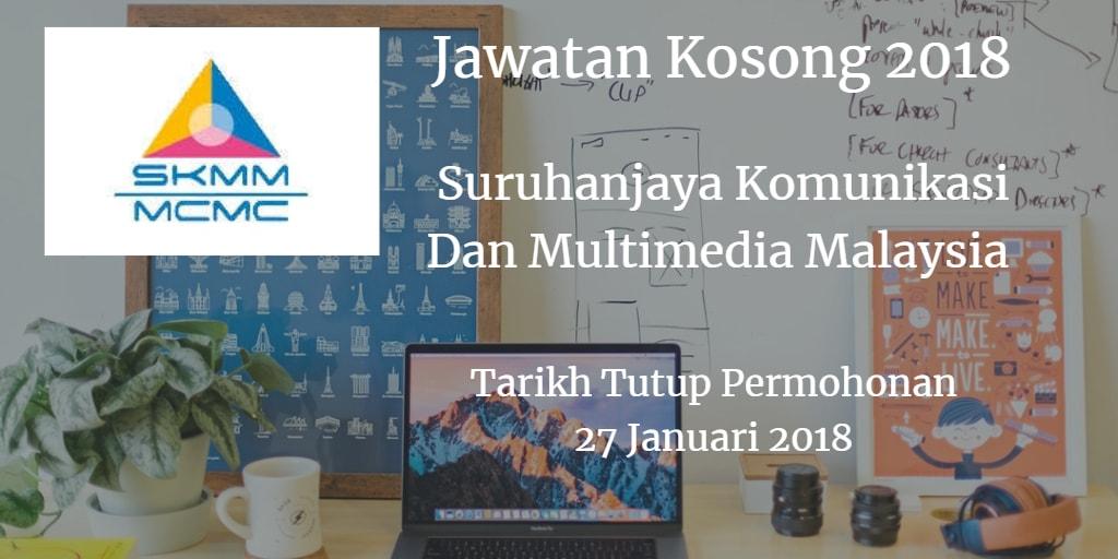 Jawatan Kosong MCMC 27 Januari 2018