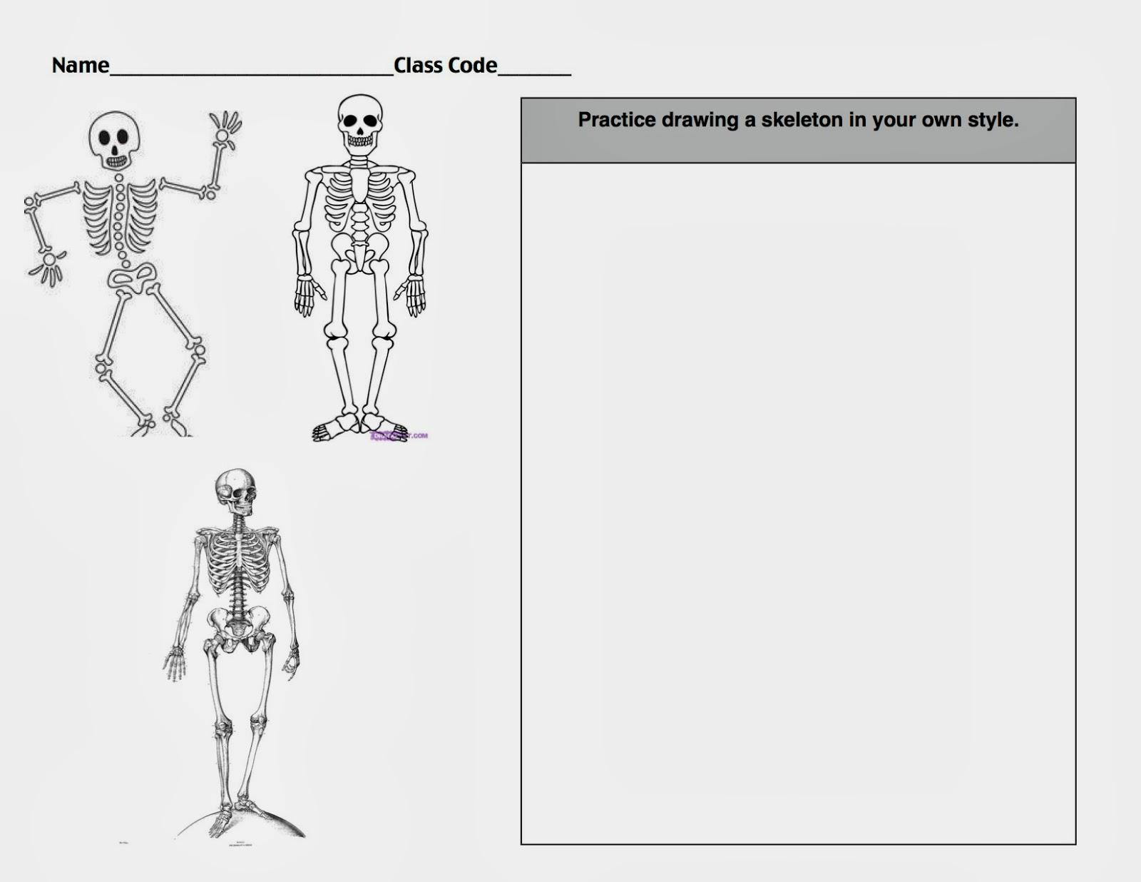 The Artsy Fartsy Art Room 4th Grade Skeletons