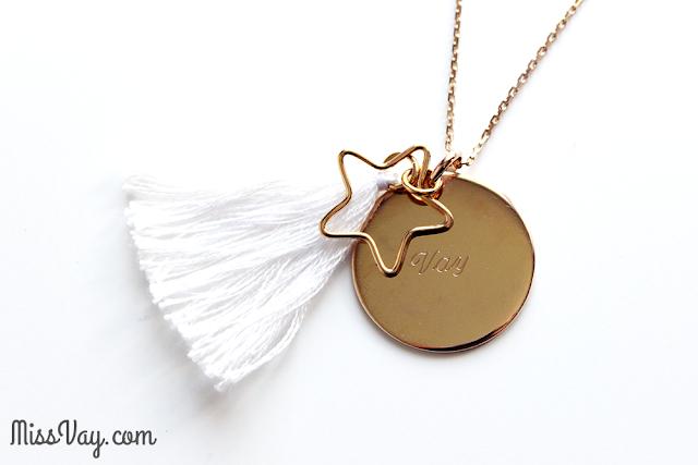Les bijoux personnalisé Petits Trésors sautoir boréal blanc