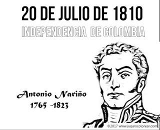 colorear Antonio Nariño