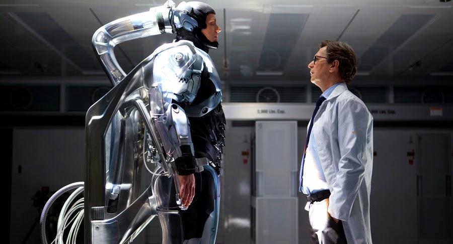 Joel Kinnaman şi Gary Oldman în Robocop 2014