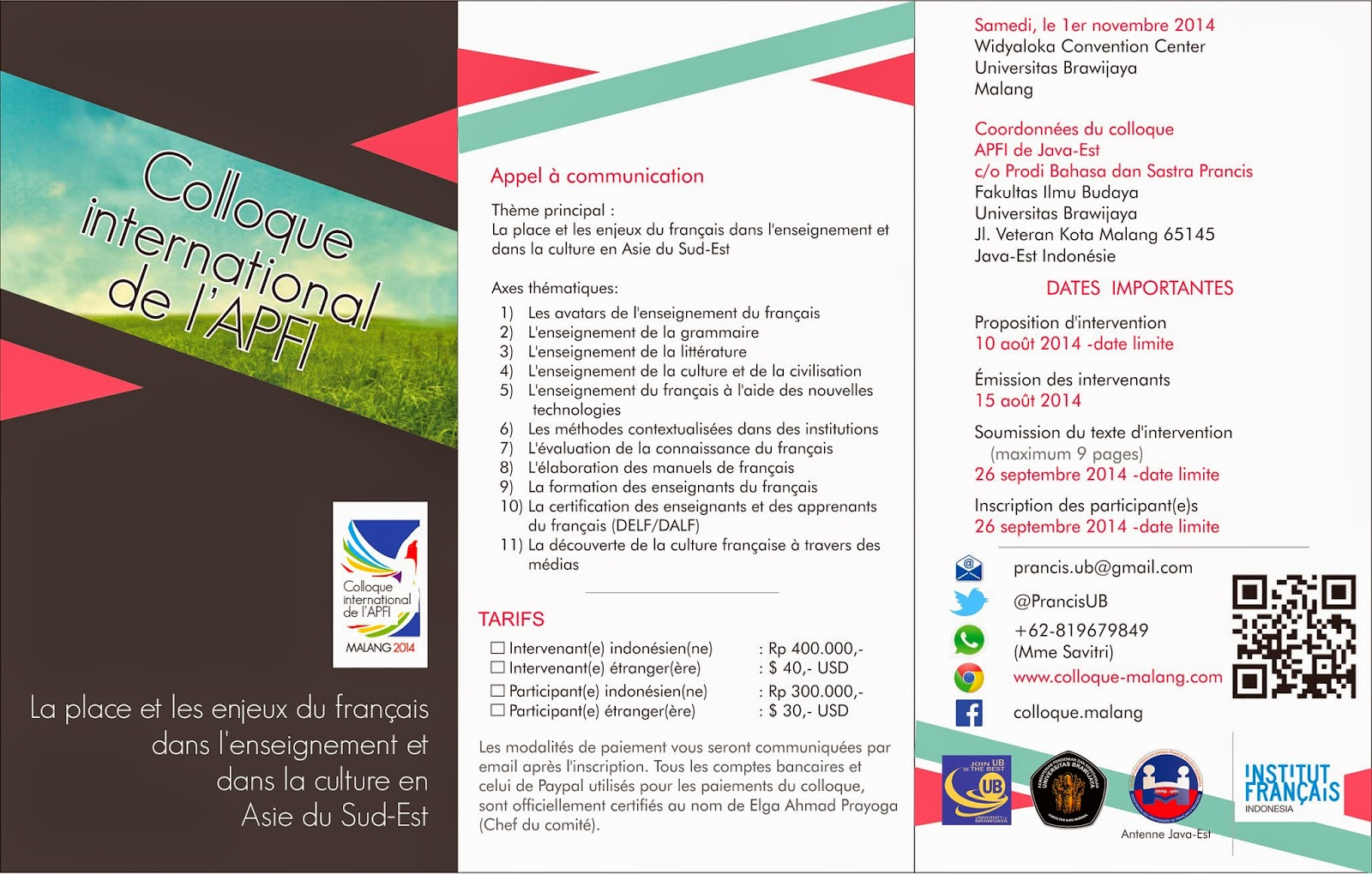 Brochure électronique du colloque